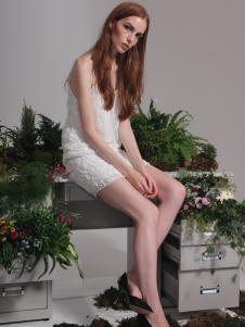 红贝缇2017春夏新款吊带裙