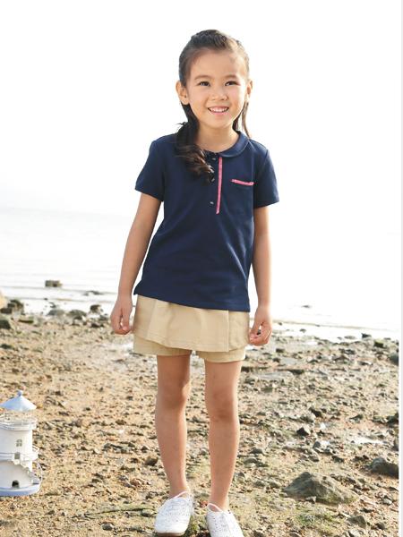 吉象贝儿女小童17新款简约上衣