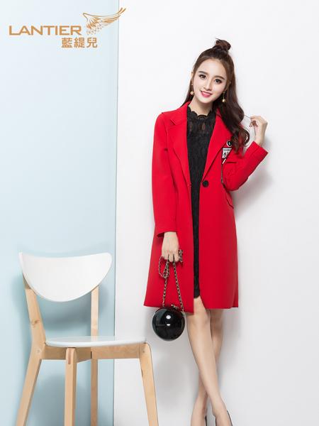 蓝缇儿2017春季新款红色外套
