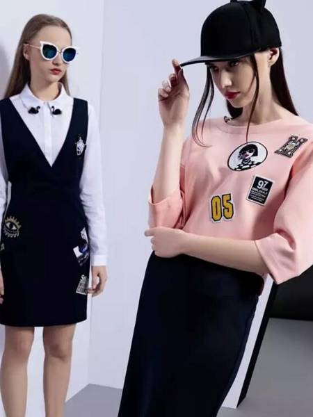 依米奴女装新品粉色卫衣上衣