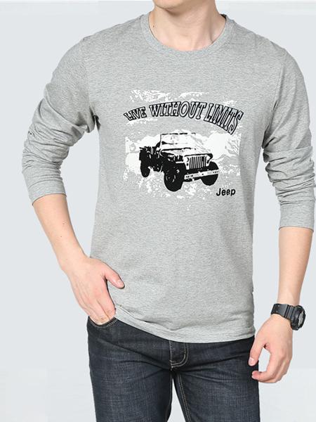 一折街男装品牌折扣新款灰色T恤