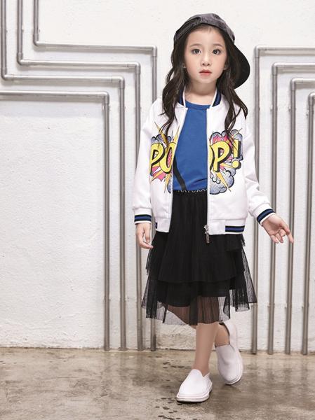 玛玛米雅女童印花棒球外套