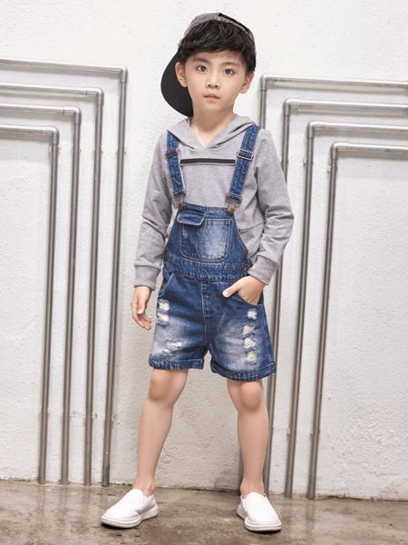 玛玛米雅男童牛仔背带短裤