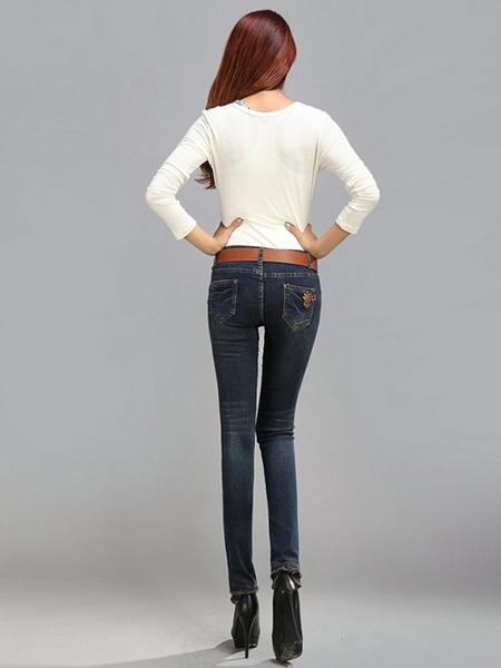 美酷思新款时尚百搭牛仔裤