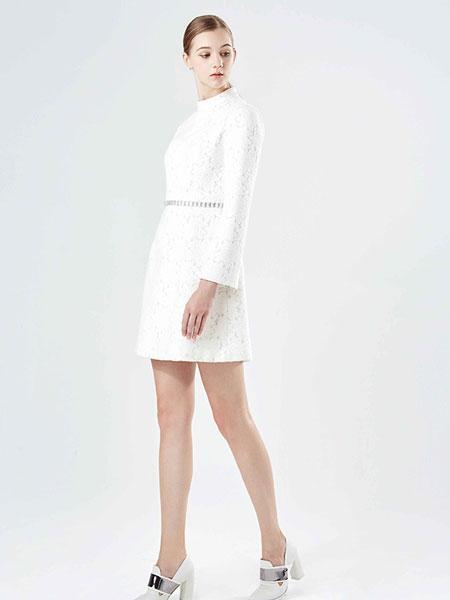 保时霓白色时尚连衣裙新款