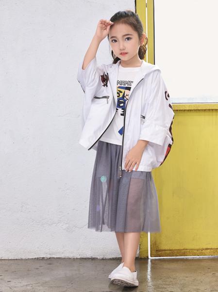 玛玛米雅米色休闲女童外套