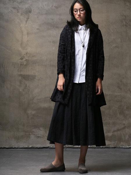 墨曲女装2017春夏新品黑色外套