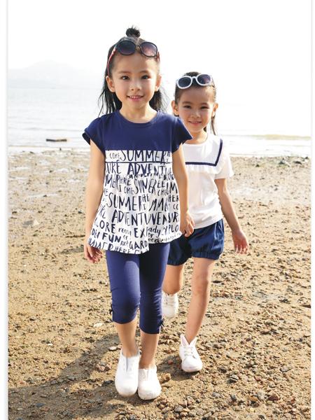 吉象贝儿女小童17新款时尚拼接上衣