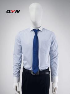 秋意濃異色領豎條紋襯衫RM08071028合體版