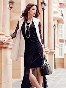 白翎风采女装黑色包臀裙