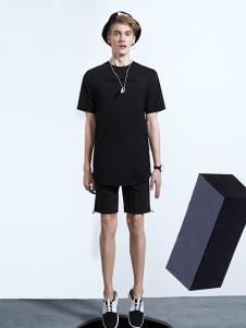 新升流派黑色圆领短袖T恤