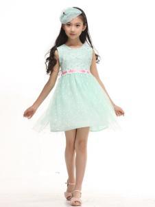 贝蕾地童装绿色纱裙