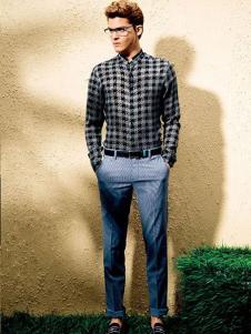诺丁山男装格纹衬衫