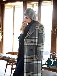 丽芮时尚条纹大衣新款