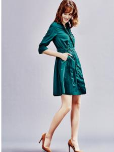兰卡芙17春季新款时尚连衣裙