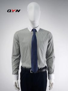 秋意浓异色领衬衫尖领扣领格子衬衫RM08101069合体版