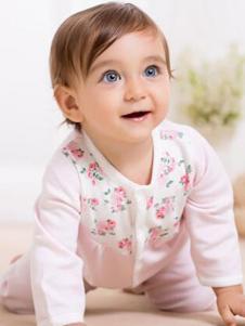 卓儿婴童装小印花粉色家居服套装