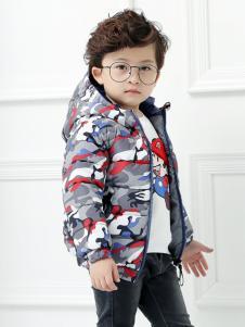 淘淘猫男童印花羽绒服
