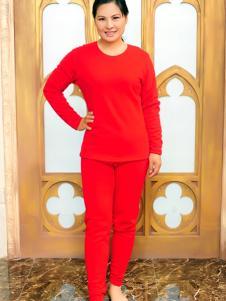 金淼红色保暖内衣套装