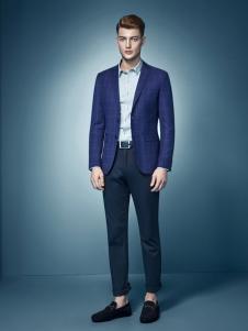 杉杉男装新款蓝色时尚小西服
