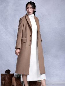依丁可唯时尚棕色外套新款