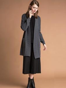 雅意娜菲女装新品灰色针织外套