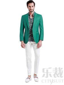 乐裁2017新款绿色西装