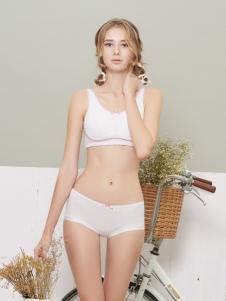 柔淇白色时尚内衣套装