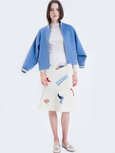 LOFTSHINE女装新品蓝色休闲短外套