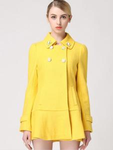 VIVIdion女装黄色外套