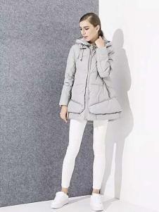 爱博·琼斯女装灰色廓形羽绒服