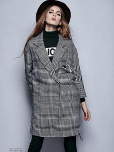 楚阁西装款格纹外套