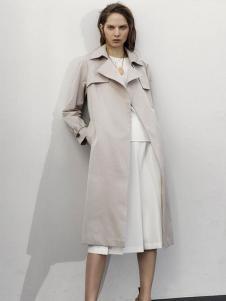 MK女装新品修身风衣外套