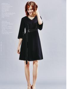 兰卡芙17春季新款连衣裙