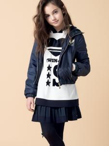 芭乐兔女童短款时尚外套