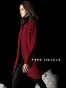天使舞台女款红色大衣