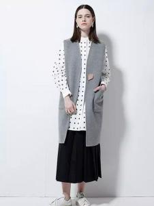 欧蒂芙女装新品灰色马夹