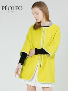 Peoleo飘蕾2017女春装新品长款羊毛呢子大衣
