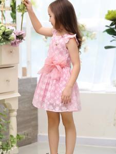 M&Q大眼蛙童装M&Q大眼蛙粉色连衣裙