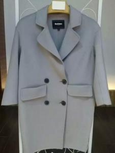 MaxEmma女装灰色双排扣大衣