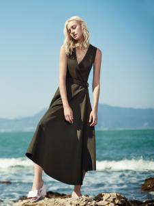 可姿伊女装春夏黑色连衣裙