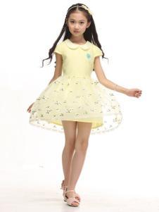 贝蕾地童装黄色纱裙