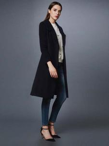 艾诺丝·雅诗女装秋冬新品长款修身大衣