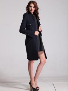 oubasil罗勒女装宝蓝色立领大衣