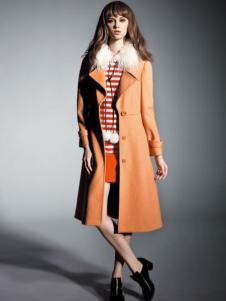 让爱女装长款毛领大衣