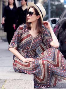 水映女装新品波西米亚风长裙