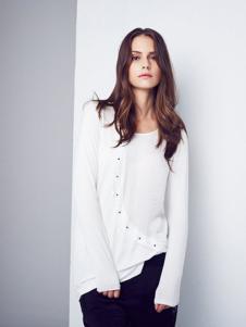 艾蝶女装白色T恤