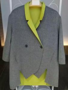 MaxEmma女装灰色不规则剪裁上衣