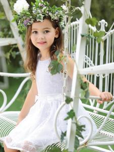 M&Q大眼蛙白色连衣裙
