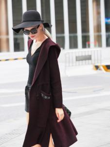 艾米秋冬时尚紫色外套